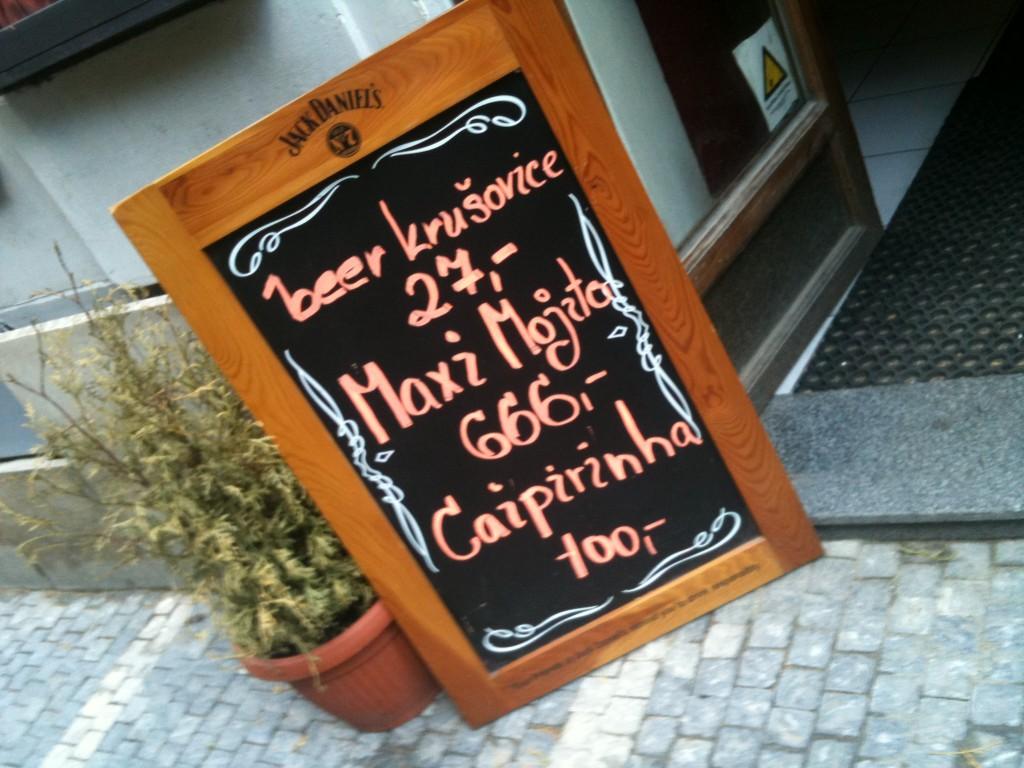 On the menu in Prague